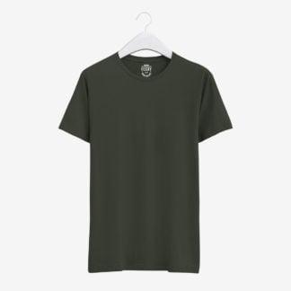 Haki Yeşil Basic T-Shirt
