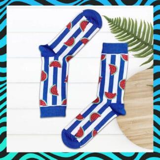 Karpuz Desenli Çorap